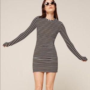 Reformation Dresses - NWT Reformation Gordon black white Dress XXS